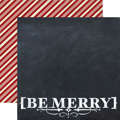 Weihnachtspapier Be Merry - Cardstock 12 x 12 Inch