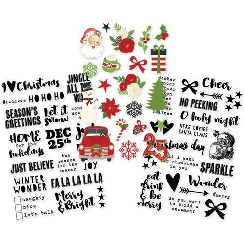 Sticker-Set Weihnachten / Clear Sticker