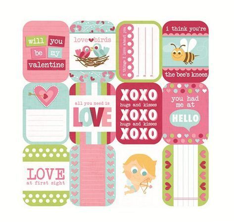 "We R Memory Keepers Love Struck Cardstock 12""X12"""