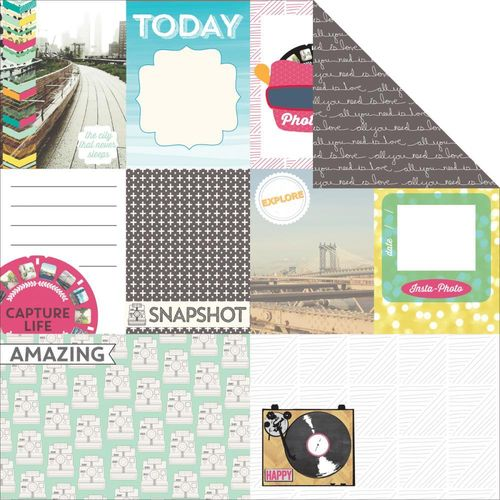 "Capture Life Double-Sided Cardstock 12""X12"""