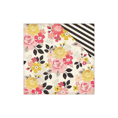 "Heirloom Roses Double-Sided Cardstock 12""X12"""