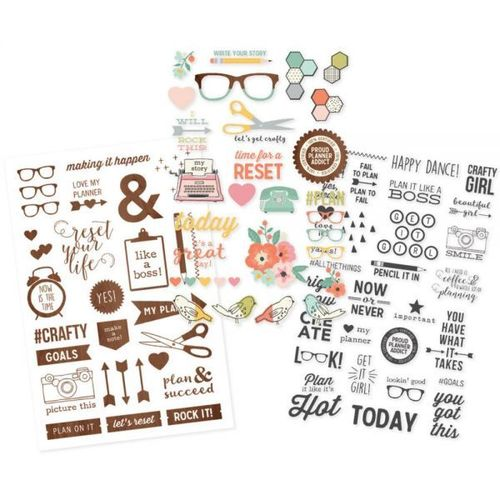 Simple Stories - The Reset Girl Planner - Clear Stickers