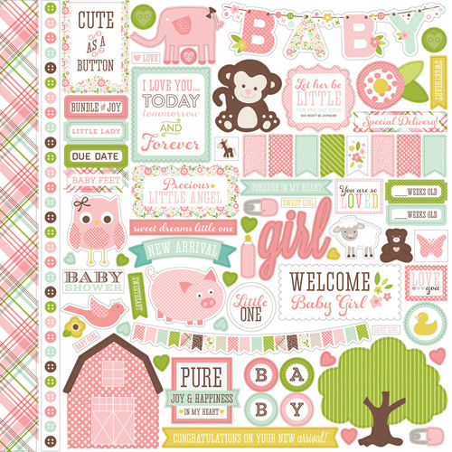 "Stickerbogen ""Bundle of Joy Girl"""