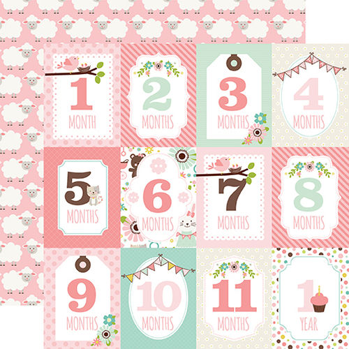 Month Cards Girl - doppelseitiges Scrapbooking Papier